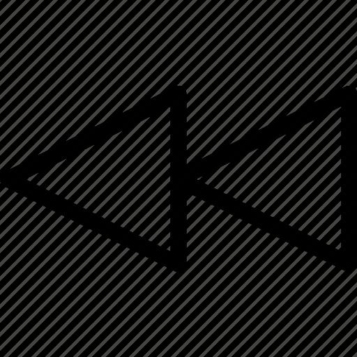 backward, multimedia, music, pixel icon, rewaind, video icon