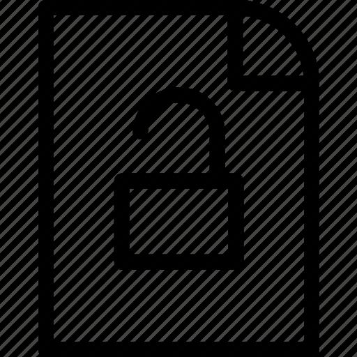 doc, lock, locked, open, pixel icon, safety icon