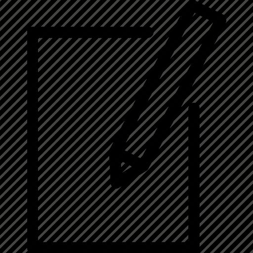 new, write icon