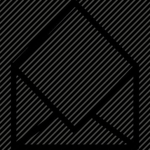 anvelop, inbox, letter, open, send icon