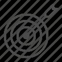 aim, arrow, bullseye, center, shoot, target