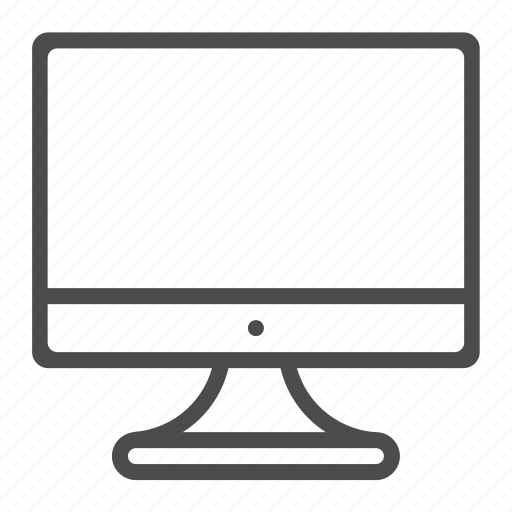 computer, display, monitor, pc, pc components icon