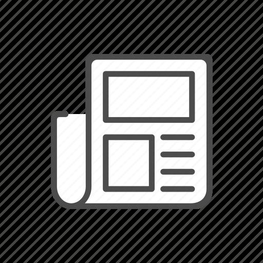Document, finance, journal, magazine, news icon - Download on Iconfinder