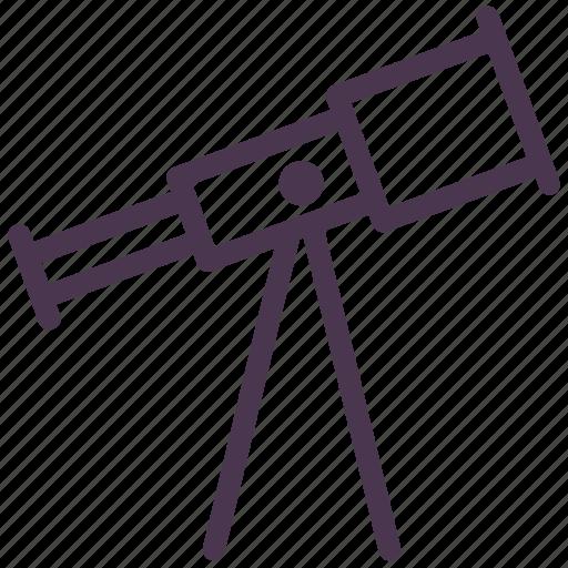 astronomy, binocular, glass, optical telescope, sky, stargazing, telescope icon
