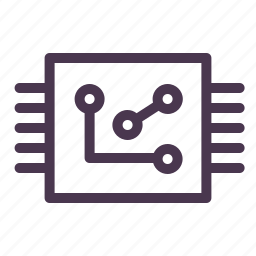 chip, cpu, electronic, microchip, nano, processor, technology icon