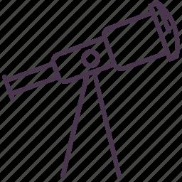 astronomy, binocular, glass, optical telescope, stargazing, stars, telescope icon