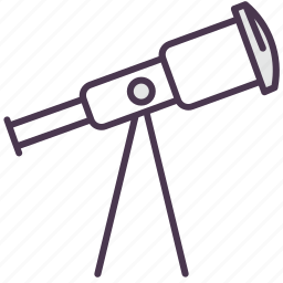 astronomy, glass, optical telescope, sky, stargazing, stars, telescope icon