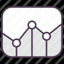 chart, diagram, graph, grid, line chart, line graph, report icon