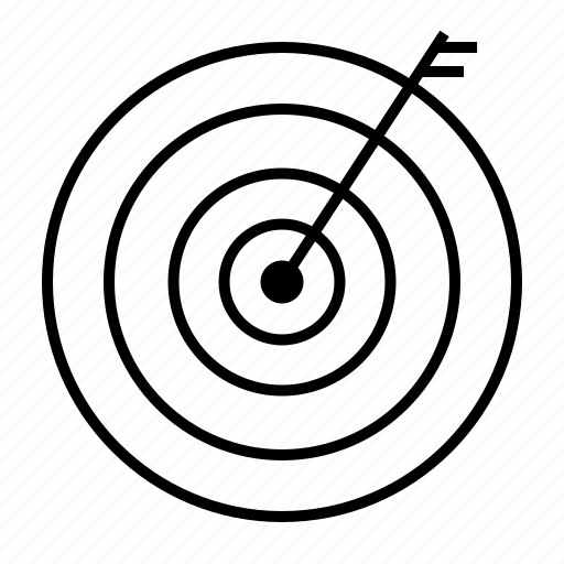arrow, center shoot, goal, shooting, target icon