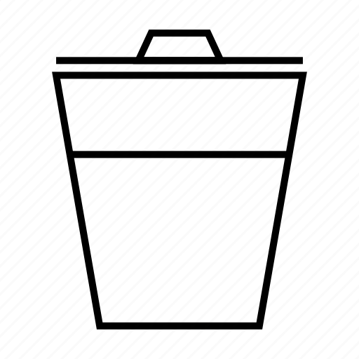 bin, delete, garbage, recycle, remove icon