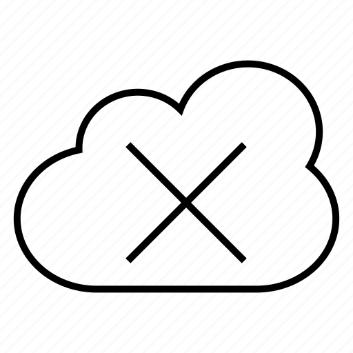 cloud, error, issue icon