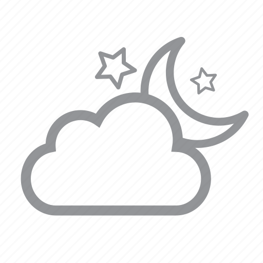 cloudy, evening icon