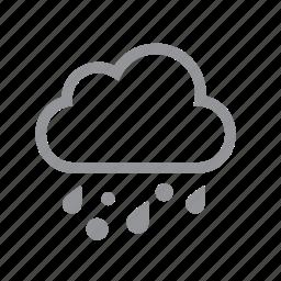 clip, hail, rain icon