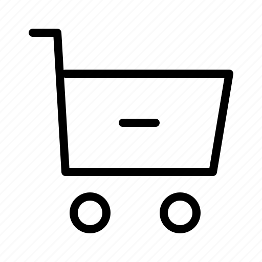 cart, commerce, minus, shopping, supermarket, web icon