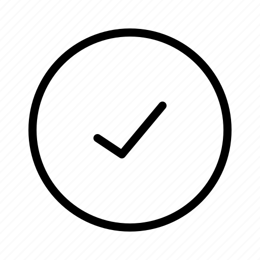 check, circle, done, list, okay icon