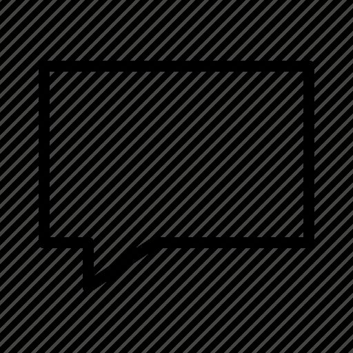 bubble, chat, comment, communication, speech icon