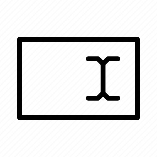 cursor, data, dos, text, textfield icon