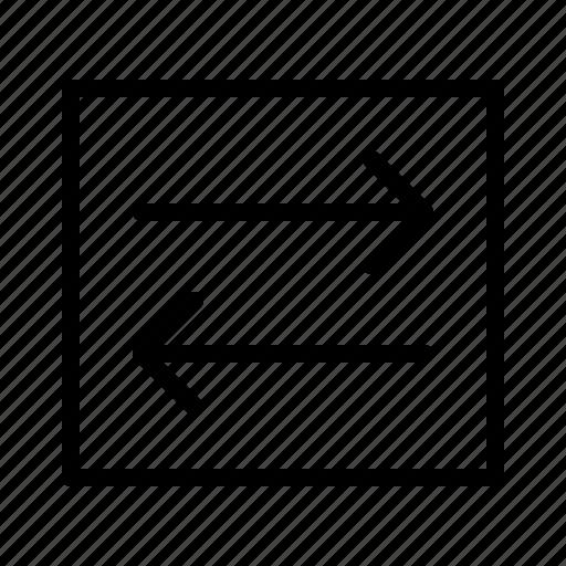 arrows, bidirectional, change, exchange, sync icon