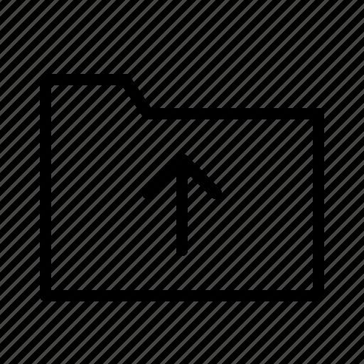 directory, explorer, folder, open, upload icon