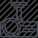 analytics, business, finance, presentation, projector, report icon