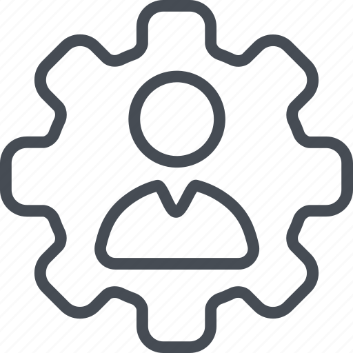 account, business, finance, gear, setting, user icon