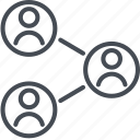 business, connection, finance, network, person icon