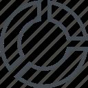 business, chart, finance, graph, pie, piechart icon