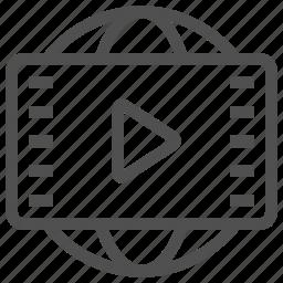 media, panorama, recording, rotation, video, view icon