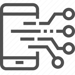 abstract, board, circuit, electronics, mobile, technology icon