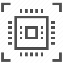 abstract, board, chip, circuit, cpu, electronics, technology icon