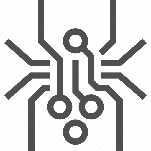 abstract, board, circuit, electronics, spider, technology, web icon