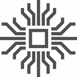 abstract, board, chip, circuit, electronics, technology icon