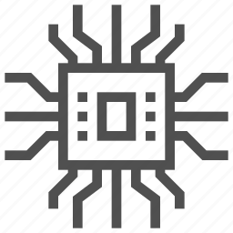 abstract, board, chip, circuit, electronics, scheme, technology icon