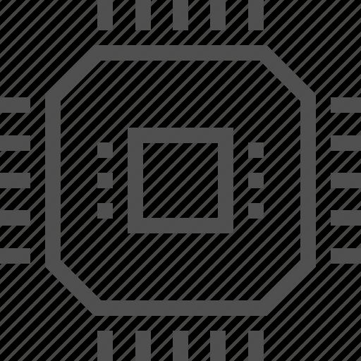 chip, cpu, electronics, gpu, processor, technology icon