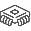 abstract, chip, cpu, electronics, microscheme, technology icon