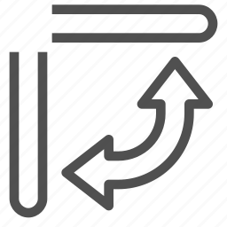 air, arrows, change, conditioning, direction, flap, system icon