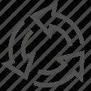 air, around, arrows, circum, conditioning, direction, round icon
