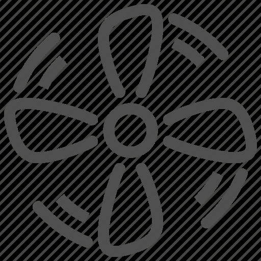 air, blower, blowhole, climate, fan, mode, ventilator icon