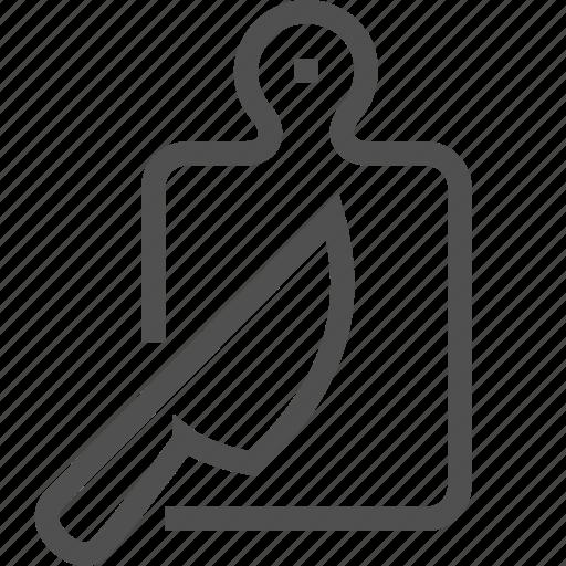 board, chopping, cut, cutting, kitchen, knife, utensil icon