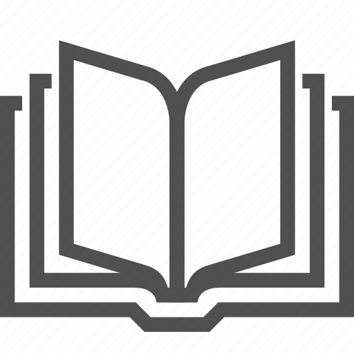 book, literature, open, pages, reading, sheet, text icon