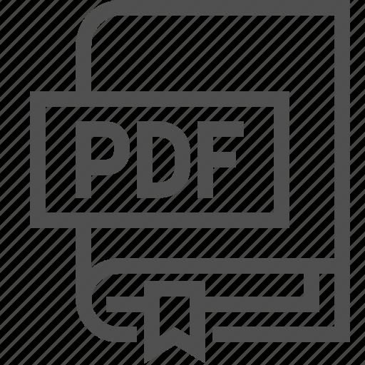 book, bookmark, e-book, file, literature, pdf, reading icon
