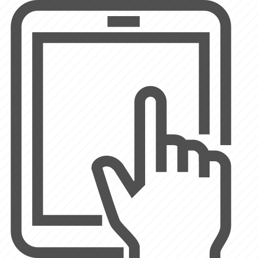 book, e-book, e-reader, equipment, finger, hand, reading icon