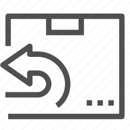 arrow, box, cargo, container, delivery, package, return icon