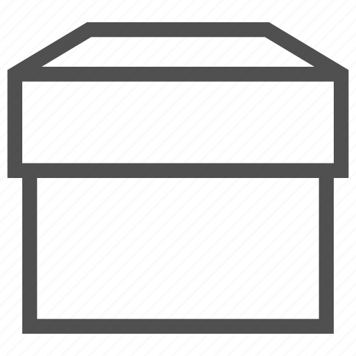 box, case, container, package, paper box, receptacle icon