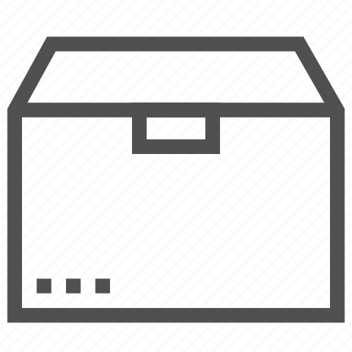 box, cargo, container, delivery, package, parcel, receptacle icon