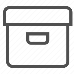 bin, box, container, package, paper box, receptacle icon