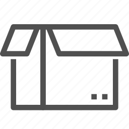 box, cargo, container, delivery, open, package, parcel icon