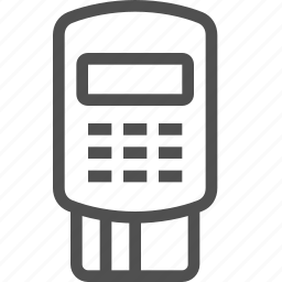 cards, device, paying, portable, shopping, terminal, transactions icon