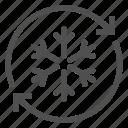 antifreeze, arrow, defrosting, freezer, fridge, refrigerator, snowflake icon