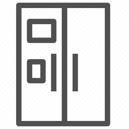 electronic, equipment, freezer, fridge, icebox, kitchen, refrigerator icon